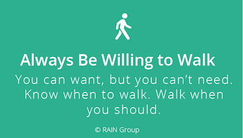 Always Be Willing to Walk