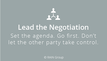 Lead the Negotiation