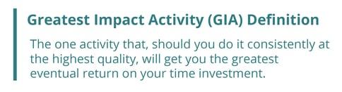 Greatest Impact Activity