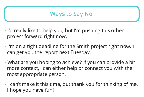 How to say no without putting people off