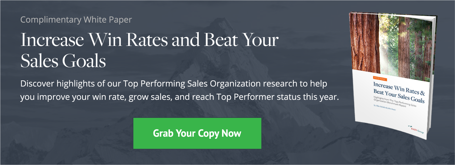 Click here to download our complimentary white paper, Increase Win Rates and Beat Your Sales Goals.