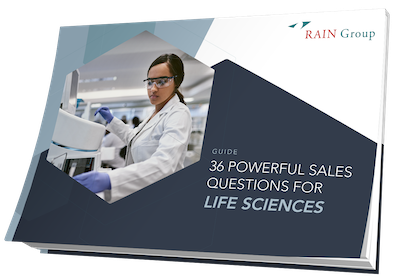 36 Powerful Sales Questions for Life Sciences Cover