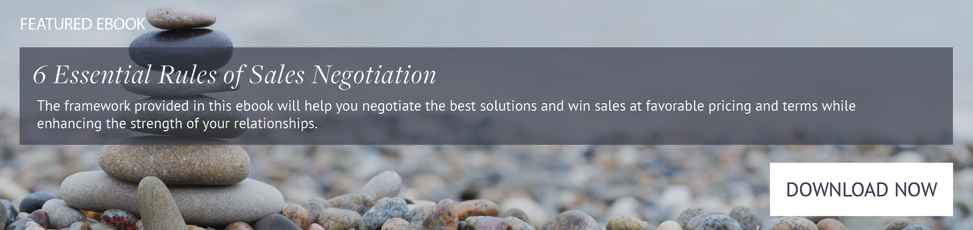 6 Essential Rules of Sales Negotiation Ebook