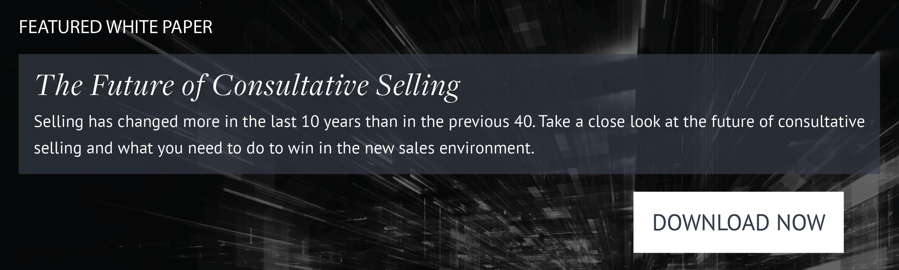 The Future of Consulative Selling white paper