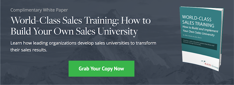 Download Now: World-Class Sales Training White Paper