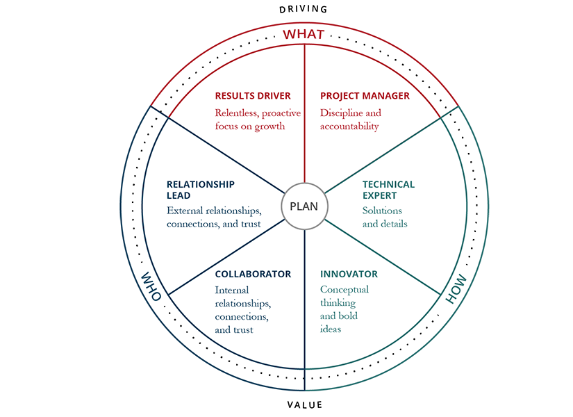 Strategic Account Management Roles Circle